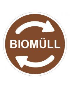 Recycling Wertstoff Mülltrennung Symbol Biomüll · Aufkleber | Schild | Magnetschild