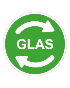 Recycling Wertstoff Mülltrennung Symbol Glas · Aufkleber | Schild | Magnetschild
