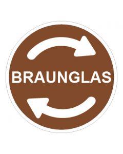 Recycling Wertstoff Mülltrennung Symbol Braunglas · Aufkleber | Schild | Magnetschild