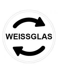 Recycling Wertstoff Mülltrennung Symbol Weissglas · Aufkleber | Schild | Magnetschild