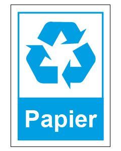 Recycling Wertstoff Mülltrennung Symbol Papier · Aufkleber | Schild | Magnetschild