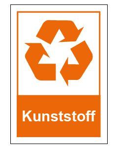 Recycling Wertstoff Mülltrennung Symbol Kunststoff · Aufkleber | Schild | Magnetschild