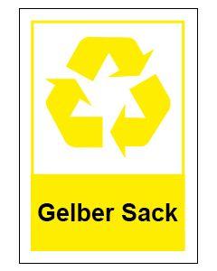 Recycling Wertstoff Mülltrennung Symbol Gelber Sack · Aufkleber | Schild | Magnetschild