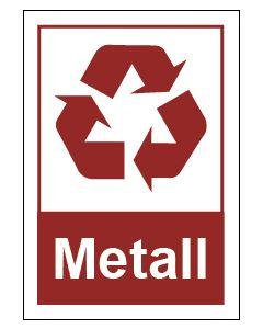 Recycling Wertstoff Mülltrennung Symbol Metall · Aufkleber | Schild | Magnetschild