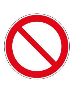 Verbotszeichen · Aufkleber | Schild | Magnetschild | Fußbodenaufkleber · Allgemeines Verbotszeichen