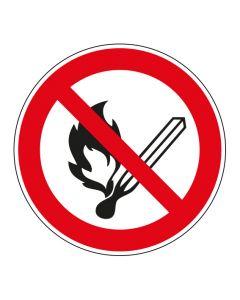 Verbotszeichen · Aufkleber | Schild | Magnetschild | Fußbodenaufkleber · Feuer offenes Licht und Rauchen verboten