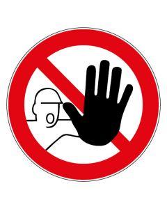 Verbotszeichen · Aufkleber | Schild | Magnetschild | Fußbodenaufkleber · Zutritt für Unbefugte verboten
