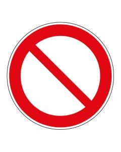 Verbotszeichen Allgemeines Verbotszeichen · ISO 7010 P001 | Aufkleber · Aluminiumschild · Magnetschild