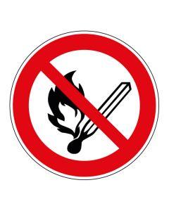Verbotszeichen Keine offene Flamme; Feuer, offene Zündquelle und Rauchen verboten · ISO 7010 P003