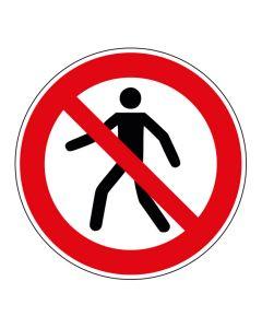 Verbotszeichen Für Fußgänger verboten · ISO 7010 P004