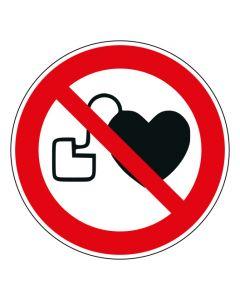 Verbotszeichen Kein Zutritt für Personen mit Herzschrittmachern oder implantierten Defibrillatoren · ISO 7010 P007