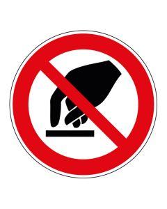 Verbotszeichen Berühren verboten · ISO 7010 P010
