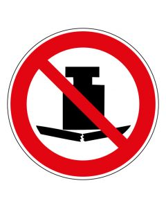Verbotszeichen Keine schwere Last · ISO 7010 P012