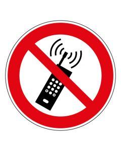 Verbotszeichen Eingeschaltete Mobiltelefone verboten · ISO 7010 P013
