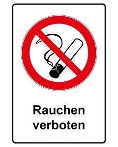 Verbotszeichen mit Text · Aufkleber | Schild | Magnetschild · Rauchen verboten
