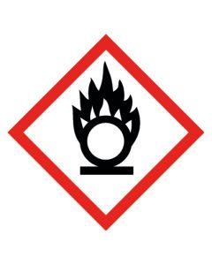 GHS Gefahrensymbol · Aufkleber | Schild | Magnetschild · Flamme über Kreis, entzündend wirkende Stoffe