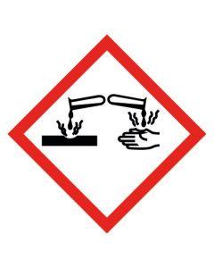 GHS Gefahrensymbol · Aufkleber | Schild | Magnetschild · Ätzwirkung, Hautätzend