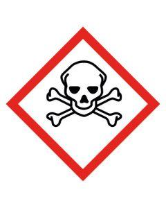 GHS Gefahrensymbol · Aufkleber | Schild | Magnetschild · Totenkopf mit gekreuzten Knochen, akute Toxizität