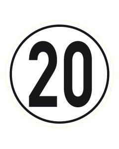 Geschwindigkeitszeichen · Aufkleber | Schild | Magnetschild · 20 km/h