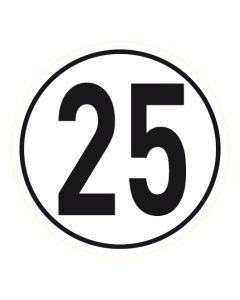 Geschwindigkeitszeichen · Aufkleber | Schild | Magnetschild · 25 km/h