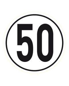 Geschwindigkeitszeichen · Aufkleber | Schild | Magnetschild · 50 km/h