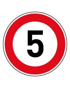 Verkehrszeichen Tempo Limit · Aufkleber | Schild | Magnetschild · 5 km/h