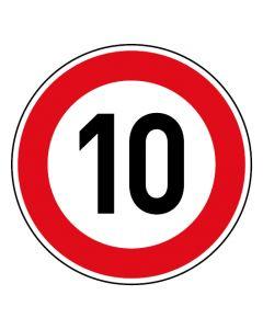 Verkehrszeichen Tempo Limit · Aufkleber | Schild | Magnetschild · 10 km/h