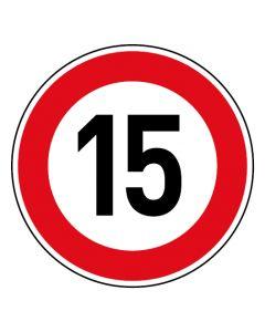 Verkehrszeichen Tempo Limit · Aufkleber | Schild | Magnetschild · 15 km/h