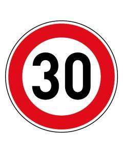 Verkehrszeichen Tempo Limit · Aufkleber | Schild | Magnetschild · 30 km/h