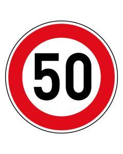 Verkehrszeichen Tempo Limit · Aufkleber | Schild | Magnetschild · 50 km/h