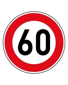 Verkehrszeichen Tempo Limit · Aufkleber | Schild | Magnetschild · 60 km/h