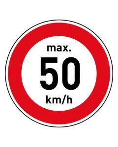 Verkehrszeichen · Aufkleber | Schild | Magnetschild · Zulässige Höchstgeschwindigkeit 50 km/h