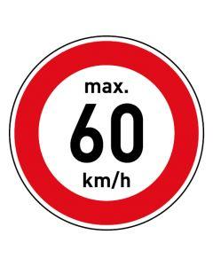 Verkehrszeichen · Aufkleber | Schild | Magnetschild · Zulässige Höchstgeschwindigkeit 60 km/h