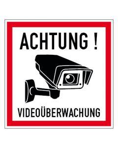 Hinweiszeichen · Aufkleber | Schild | Magnetschild · Videoüberwachung TYP 43