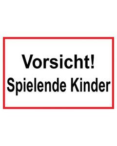 Hinweiszeichen · Aufkleber | Schild · Vorsicht · Spielende Kinder | Mod. 25