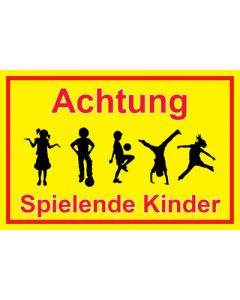 Hinweiszeichen · Aufkleber | Schild · Achtung Spielende Kinder | Mod. 33