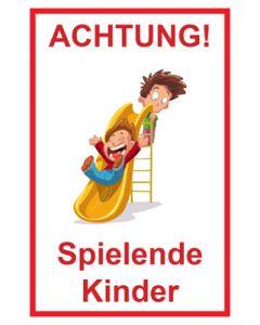 Hinweiszeichen · Aufkleber | Schild · Achtung Spielende Kinder | Mod. 101