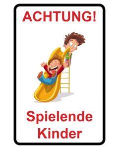 Hinweiszeichen · Aufkleber | Schild · Achtung Spielende Kinder | Mod. 105