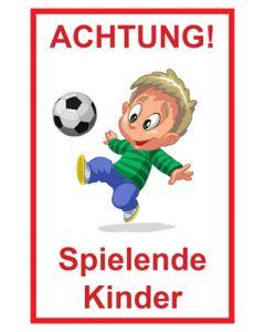 Hinweiszeichen · Aufkleber | Schild · Achtung Spielende Kinder | Mod. 107