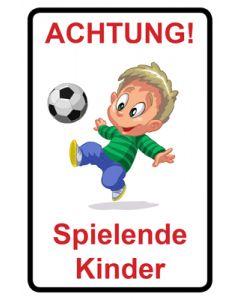 Hinweiszeichen · Aufkleber | Schild · Achtung Spielende Kinder | Mod. 111