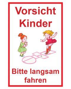 Hinweiszeichen · Aufkleber | Schild · Achtung Spielende Kinder | Mod. 113