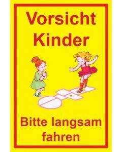 Hinweiszeichen · Aufkleber | Schild · Achtung Spielende Kinder | Mod. 115