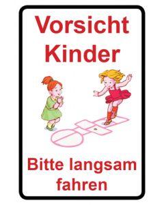Hinweiszeichen · Aufkleber | Schild · Achtung Spielende Kinder | Mod. 117