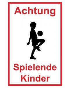 Hinweiszeichen · Aufkleber | Schild · Achtung Spielende Kinder | Mod. 119