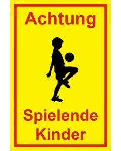 Hinweiszeichen · Aufkleber | Schild · Achtung Spielende Kinder | Mod. 121