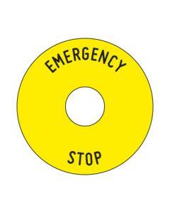 Aufkleber Emergency STOP rund | gelb · schwarz