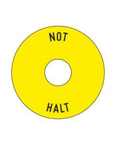 Aufkleber NOT HALT rund | gelb · schwarz