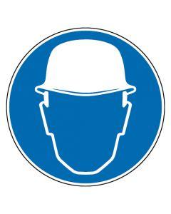 Gebotszeichen · Aufkleber | Schild | Magnetschild | Fußbodenaufkleber · Kopfschutz benutzen
