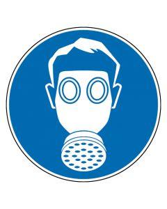Gebotszeichen · Aufkleber | Schild | Magnetschild | Fußbodenaufkleber · Atemschutz benutzen