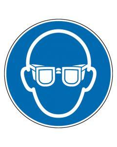 Gebotszeichen · Aufkleber | Schild | Magnetschild | Fußbodenaufkleber · Augenschutz benutzen